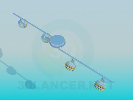 3d модель Светильник галогеновый подвесной – превью