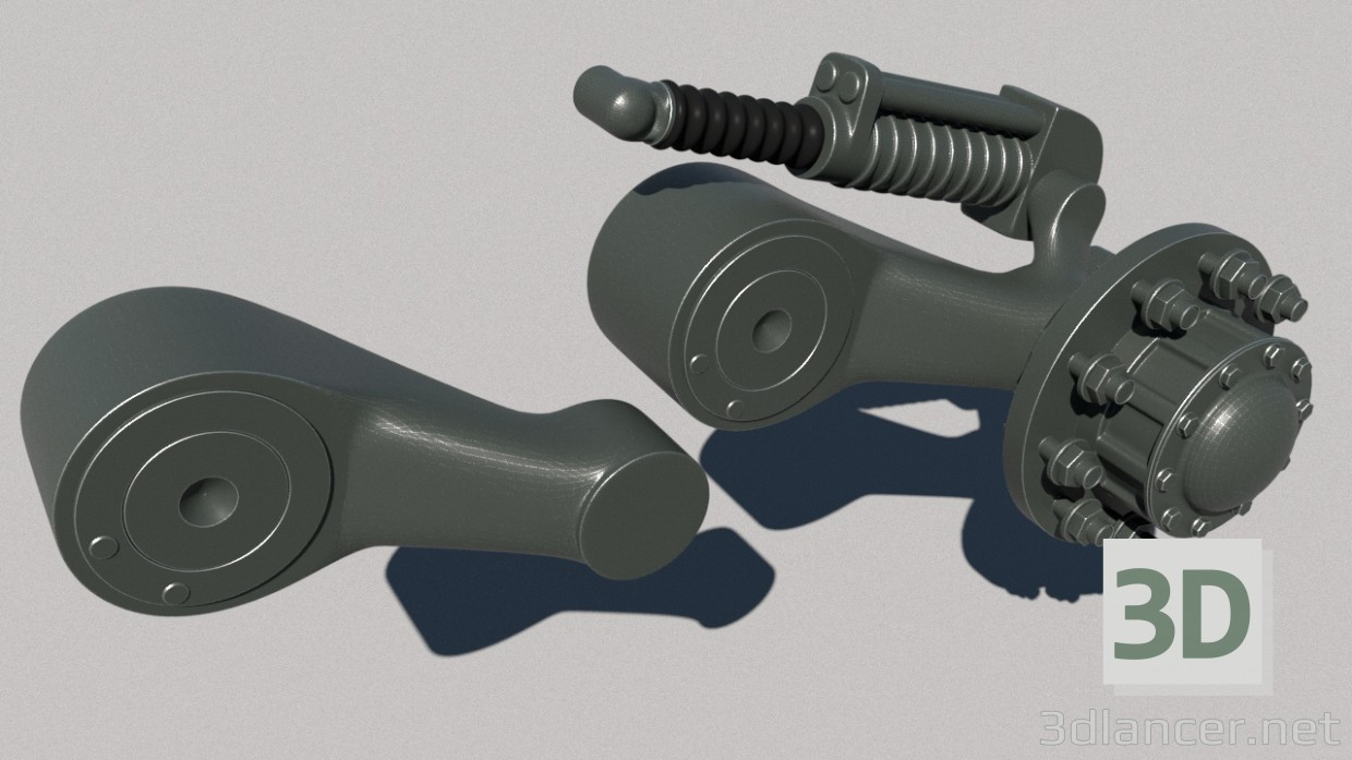 3d model Suspension of the t-80 - preview