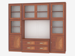 Library cabinet with a place for TV LG213
