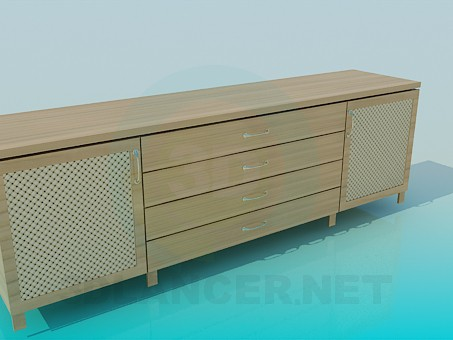 3d modeling Chest of drawers elongated model free download