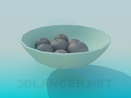 3d model Vase with fruit - preview