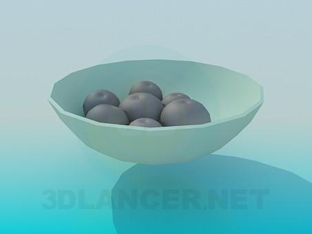 modelo 3D Jarrón con frutas - escuchar