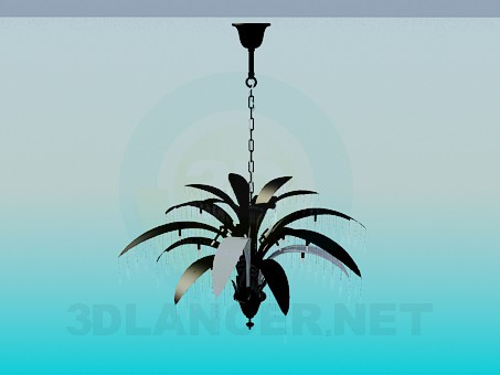 3d model Chandelier with leaves - preview