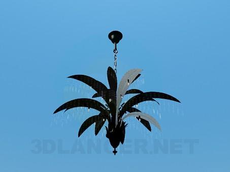 3d модель Люстра с листьями – превью