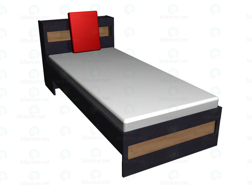 3d model Bed 90x200 with headrest - preview