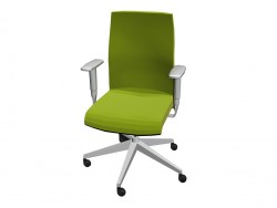 Office chair with armrests adjustable
