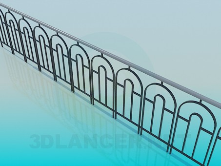 3d modeling Railing for the sidewalk model free download