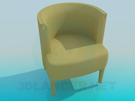 modelo 3D Silla con respaldo vertical - escuchar