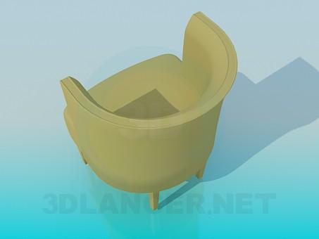 3d модель Кресло с вертикальной спинкой – превью