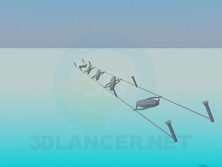 3d модель Светильник галогенный – превью