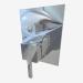 3d model Mezclador de ducha oculto con interruptor para ducha cúbica (BDD 044P) - vista previa