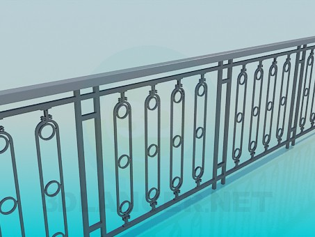 3d model Railings street - preview