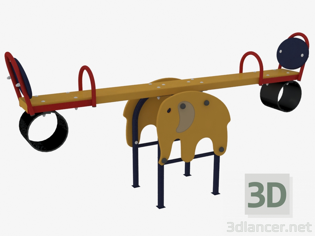 3d Model Rocking Chair Balance Weight Of A Playground For