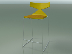 Stackable bar stool 3712 (with cushion, Yellow, CRO)