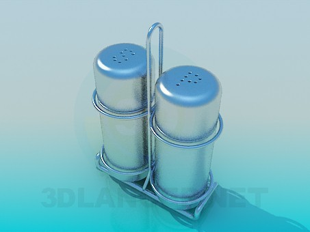 3d model Salt and pepper shakers - preview