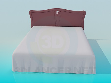3d modeling King size bed model free download