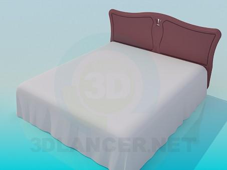 3d модель Большая кровать – превью