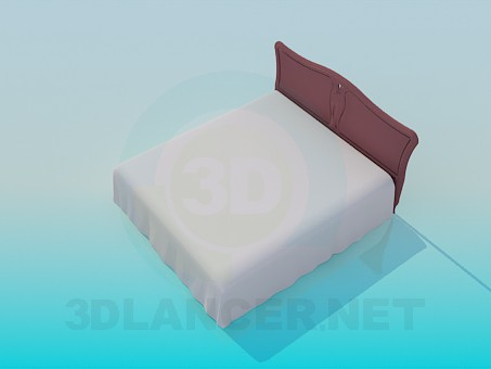 3d model King size bed - preview