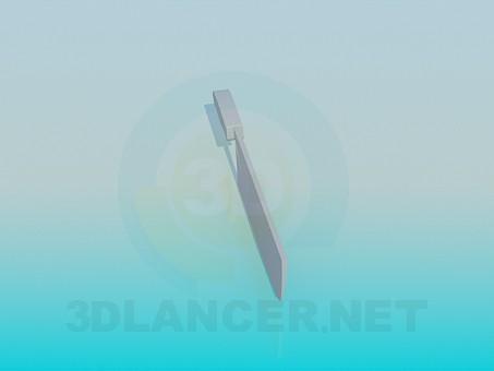 3d модель Нож кухонный – превью