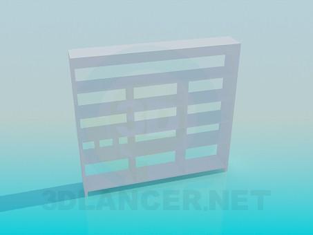 3d моделирование Книжный стеллаж модель скачать бесплатно