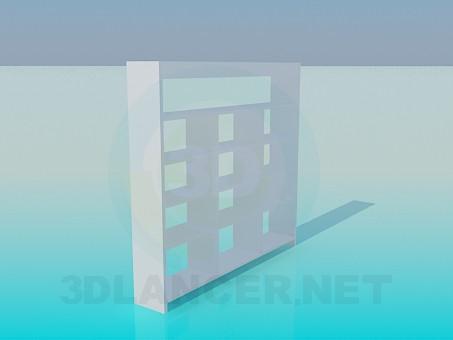 3d модель Книжковий стелаж – превью