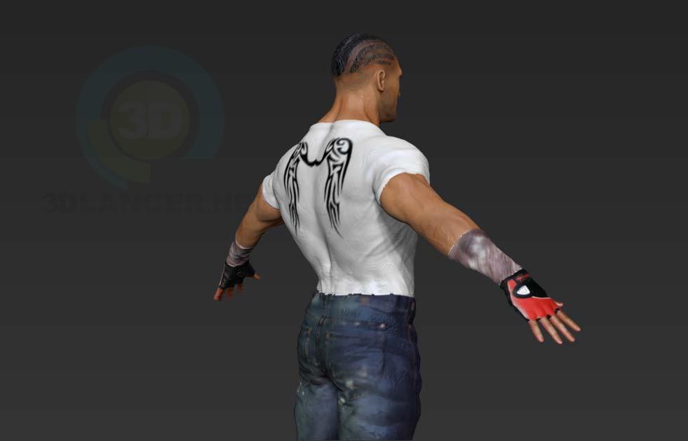 3d model hero - preview