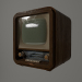 3d Retro TV model buy - render