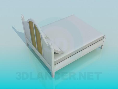 modelo 3D Cama sola - escuchar