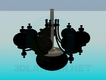 3d modeling Dark chandelier model free download