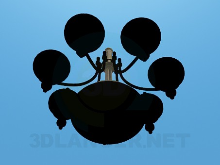 3d model Dark chandelier - preview