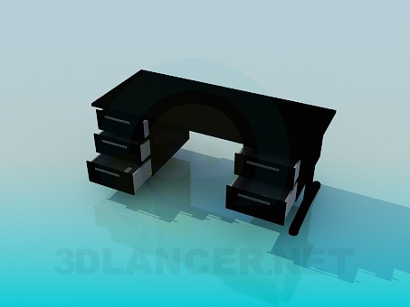 3d model A writing desk - preview