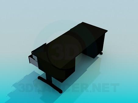 3d модель Широкий письмовий стіл – превью