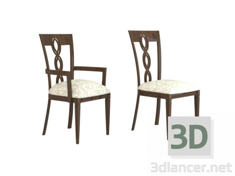 Modello 3d sedie del salone disponibile per il download for Sedie per salone