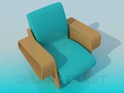 Sessel mit Zahnstangen für Zeitungen und Zeitschriften