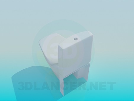 3d model Toilet with unusual forms - preview