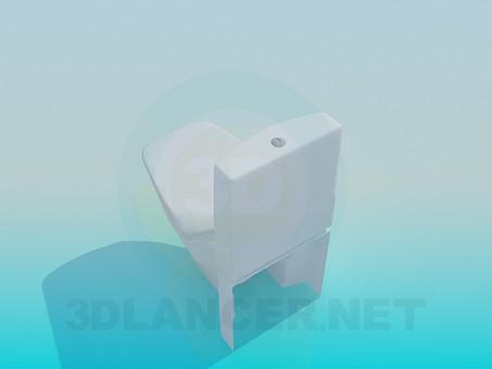 modelo 3D Inodoro con formas inusuales - escuchar