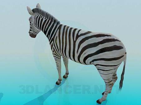 3d model zebra - preview