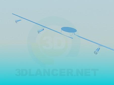 3d модель Каскад светильников – превью