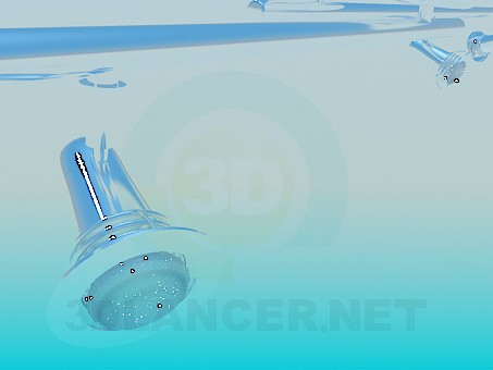 modelo 3D Lámparas de cascada - escuchar