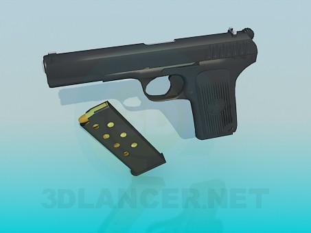 3d моделирование Пистолет ТТ модель скачать бесплатно