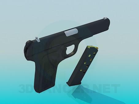 3d модель Пистолет ТТ – превью