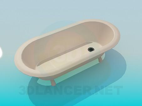 modelo 3D Bañera con patas - escuchar
