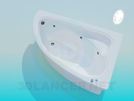 modelo 3D Bañera de esquina - escuchar