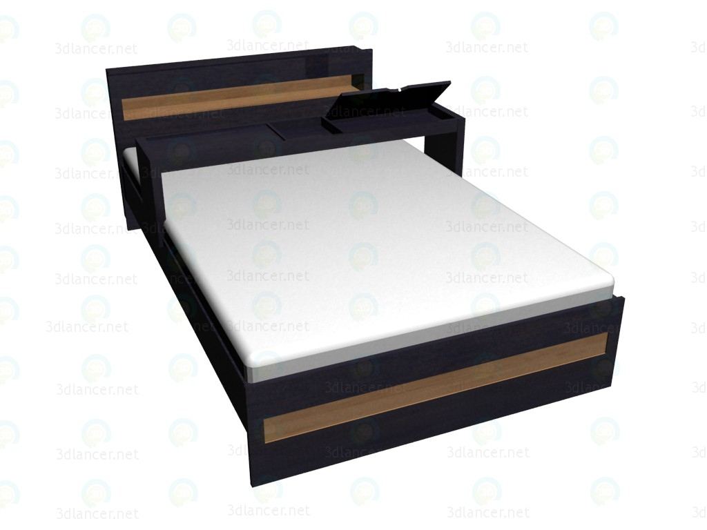 3d model Double bed 140x220 with extension VOX - preview