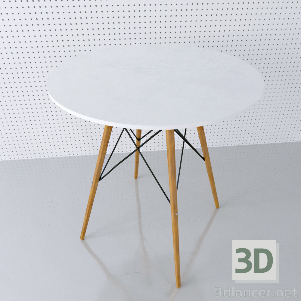 3d model Round table EAMES DSW D80 - preview