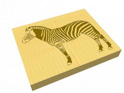 """Tafel """"Zebra"""""""