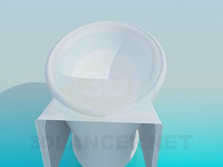 modelo 3D Tina oval - escuchar