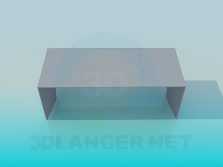 3d model A simple bench - preview