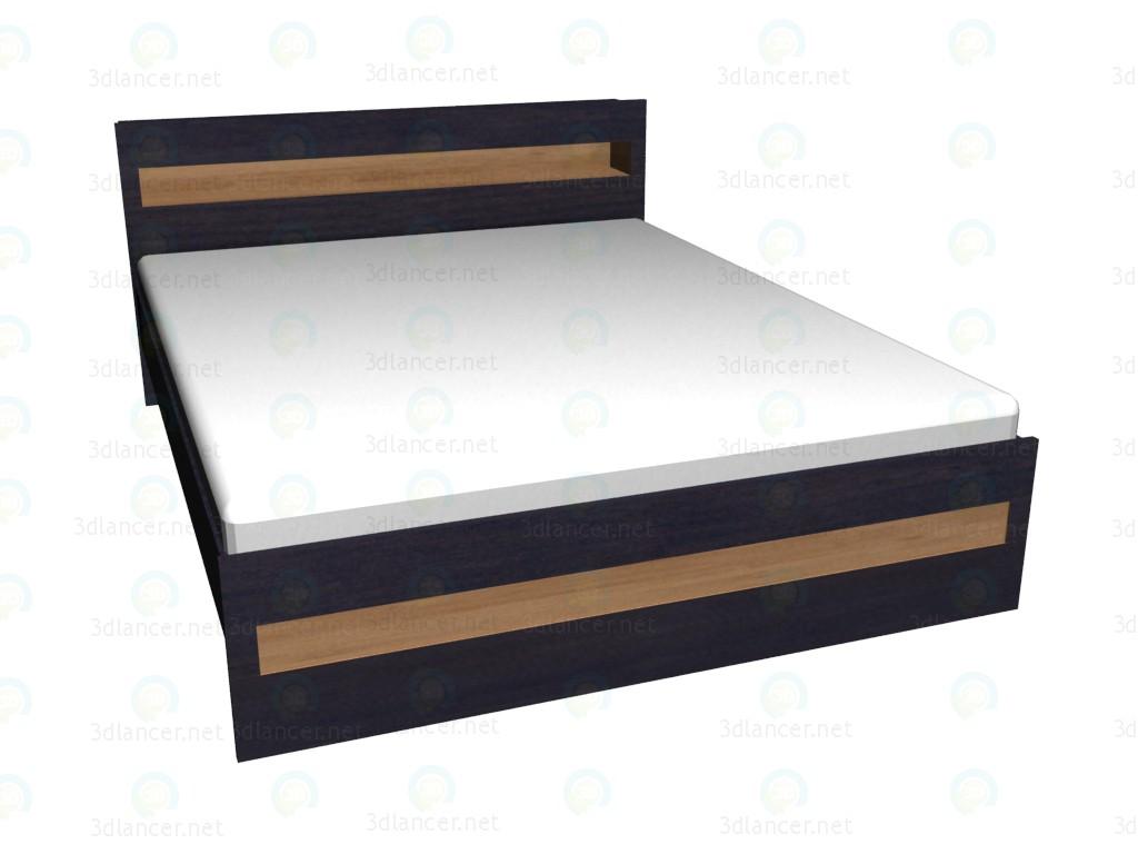 3d модель Кровать 2-местная 160х200 – превью