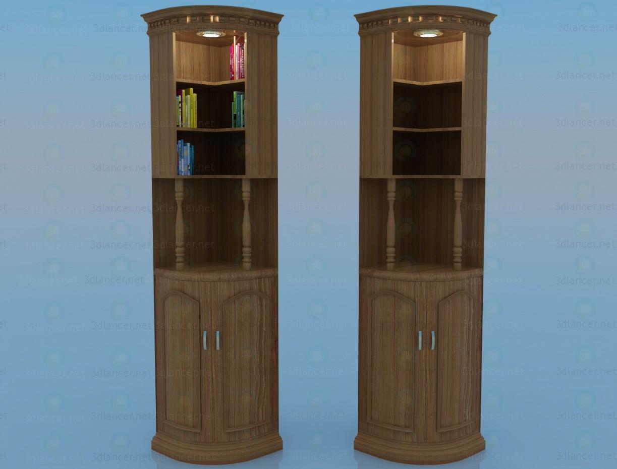 3d моделирование Угловой шкаф модель скачать бесплатно
